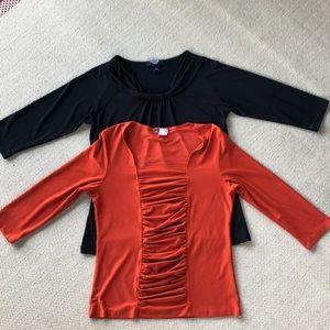 various Tops - 2 Three quarter sleeve tops